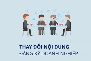Thay đổi nội dung đăng ký doanh nghiệp tại Rạch Giá